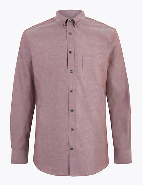 Cotton Easy Iron Tailored Fit Oxford Shirt