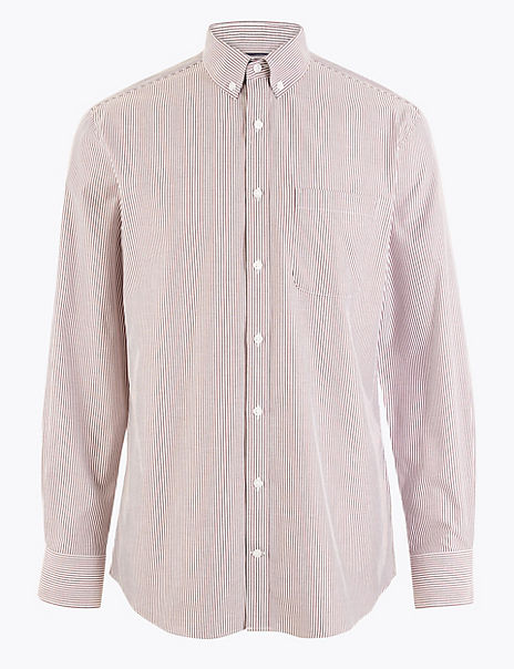 Tailored Fit Bengal Stripe Easy Iron Shirt