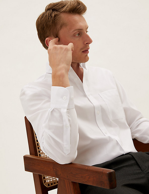 Regular Fit Pure Cotton Oxford Shirt