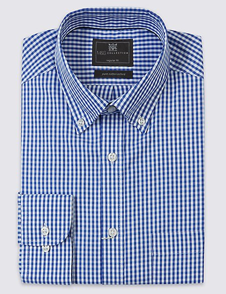 2in Longer Regular Fit Oxford Shirt