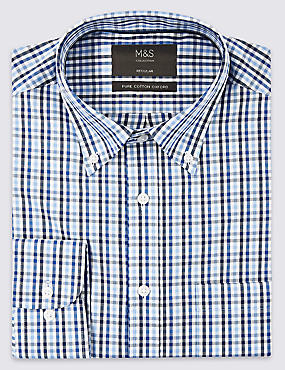 Pure Cotton Regular Fit Oxford Shirt