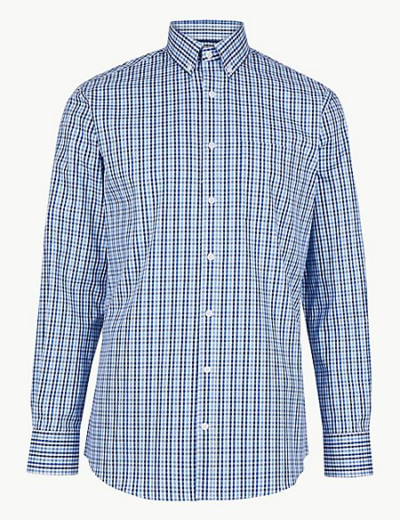Pure Cotton Tailored Fit Oxford Shirt