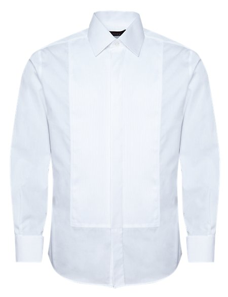Pure Cotton Pleated Dinner Shirt