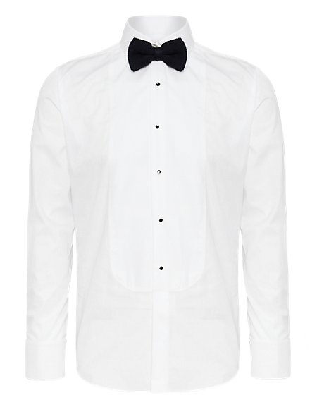 2in Shorter Pure Cotton Marcella Stud Shirt
