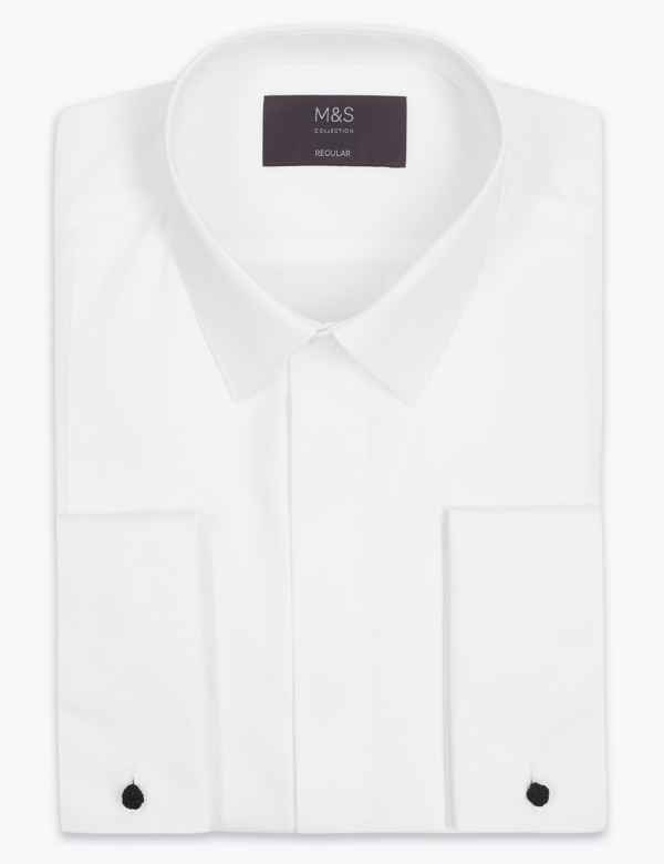 cdfcd19b3 Cotton Blend Regular Fit Dinner Shirt. Big & tall sizes available