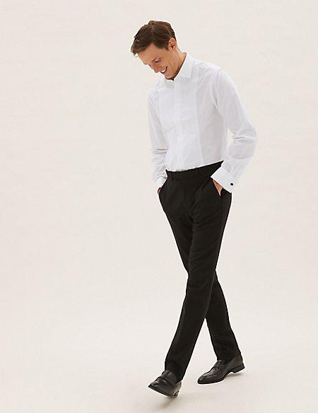 Cotton Blend Slim Fit Dinner Shirt