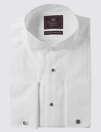 2fb987db7bd Pure Cotton Regular Fit Dinner Shirt