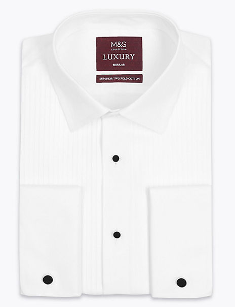 2in Longer Pure Cotton Regular Fit Dinner Shirt