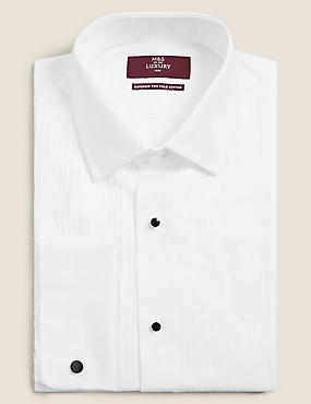Pure Cotton Slim Fit Dinner Shirt