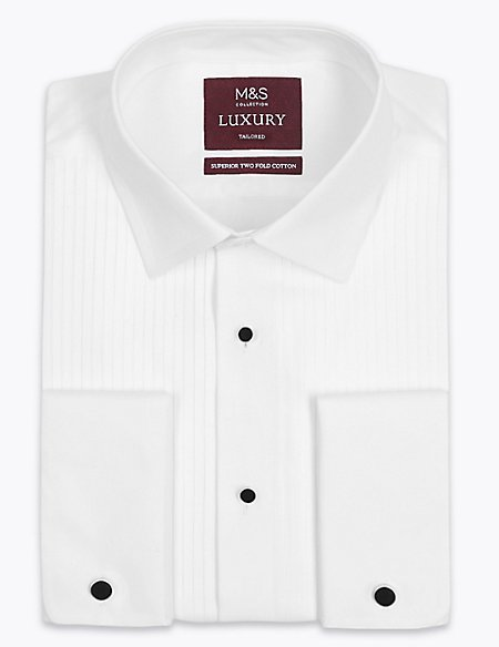 Pure Cotton Tailored Fit Dinner Shirt