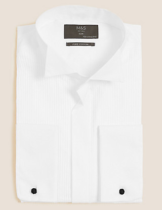 Pure Cotton Slim Fit Dinner Shirt Clothing