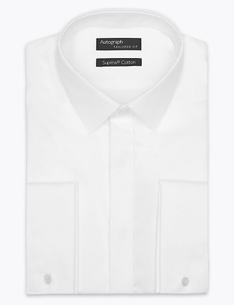 Supima® Cotton Tailored Fit Dinner Shirt