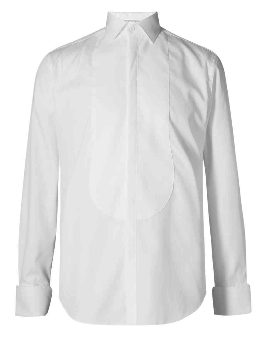 Supima Cotton Tailored Fit Dress Shirt Ms Collection Ms