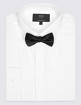 Cotton Blend Modern Slim Fit Dinner Shirt