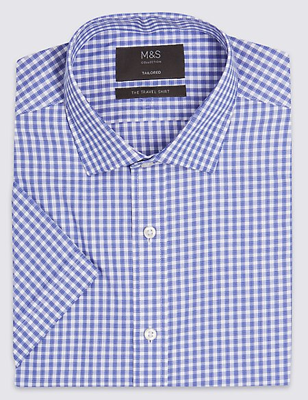 Short Sleeve Non-Iron Tailored Fit Shirt