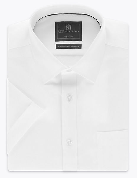 Pure Cotton Regular Fit Non-Iron Twill Shirt