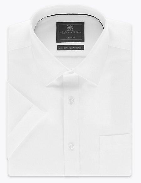 Short Sleeve Non-Iron Regular Fit Shirt