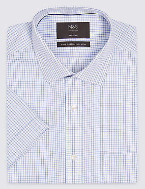 Short Sleeve Non-Iron Regular Fit Shirt