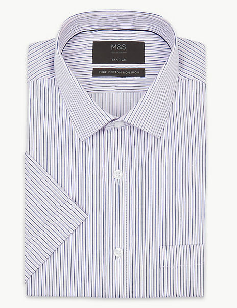Pure Cotton Regular Fit Twill Shirt