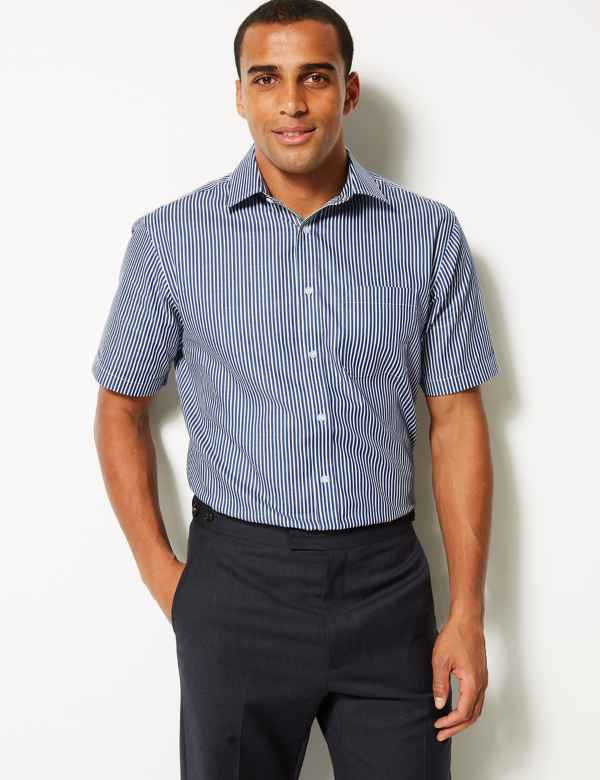 d4ba88388d4 Pure Cotton Regular Fit Non-Iron Shirt. Big   tall sizes available