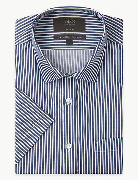 Pure Cotton Regular Fit Non-Iron Shirt