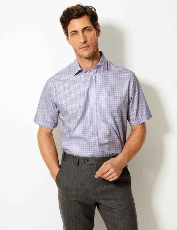 1094c7c365718 Pure Cotton Non-Iron Regular Fit Shirt