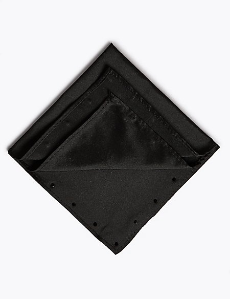 Pure Silk Pocket Square MADE WITH SWAROVSKI® ELEMENTS