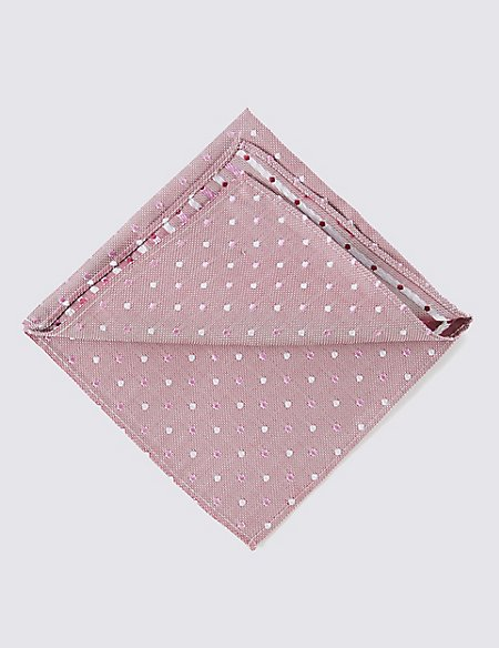 Pure Silk Multi Spotted Pocket Square