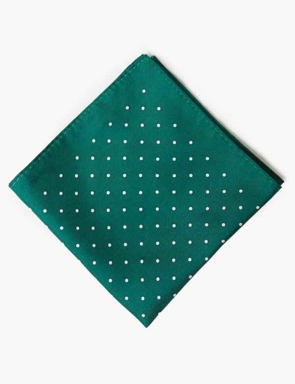 e28cfa791130 Pure Silk Spot Print Pocket Square