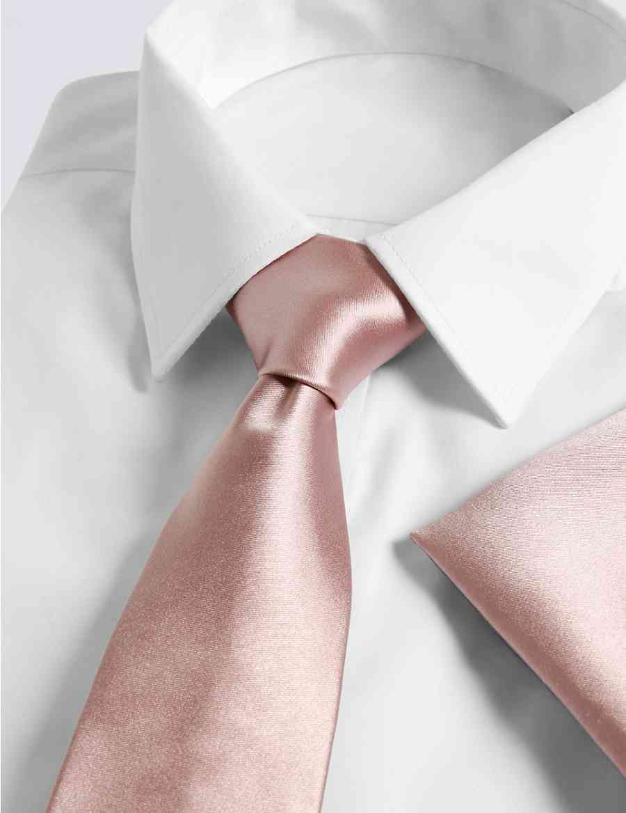 2eb727509c4a6 Pure Silk Tie   Pocket Square Set