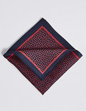 Pure Silk Heart Printed Pocket Square