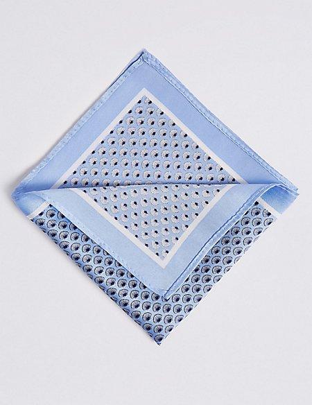 Pure Silk Shell Print Pocket Square