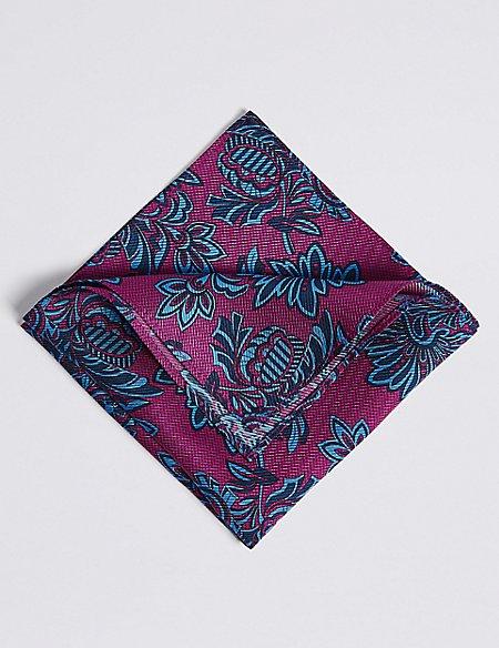 Pure Silk Printed Pocket Square