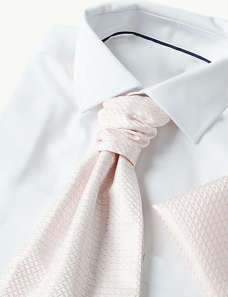 Jacquard Cravat & Pocket Square Set