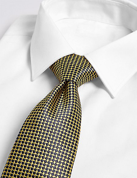 Mini Geometric Tie & Cufflink Set