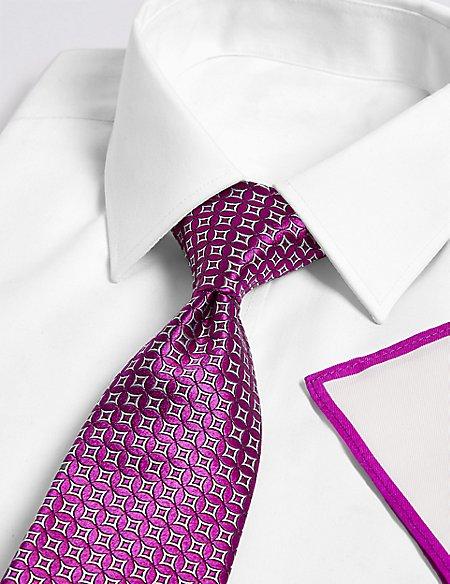 Geometric Tie, Hank & Cufflink Set