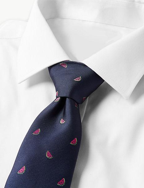 Watermelon Print Tie & Striped Socks Set
