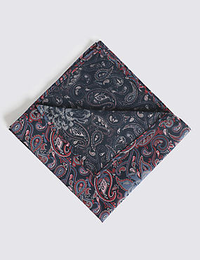 Pure Cotton Floral Print Pocket Square