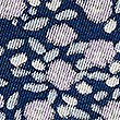 Pure Silk Floral Print Pocket Square , NAVY MIX, swatch