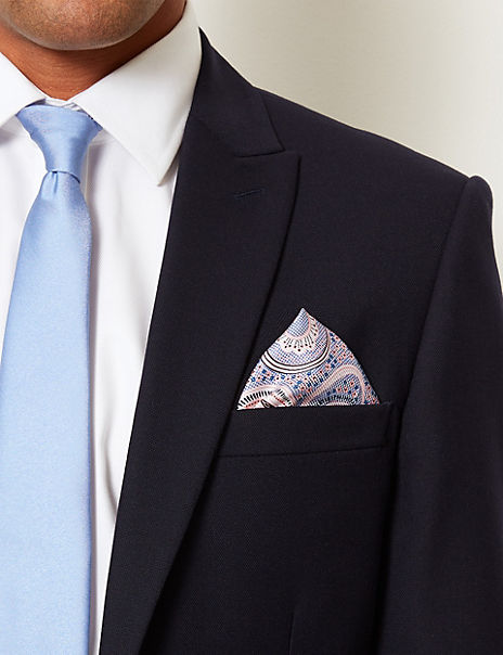 Pure Silk Paisley Pocket Square