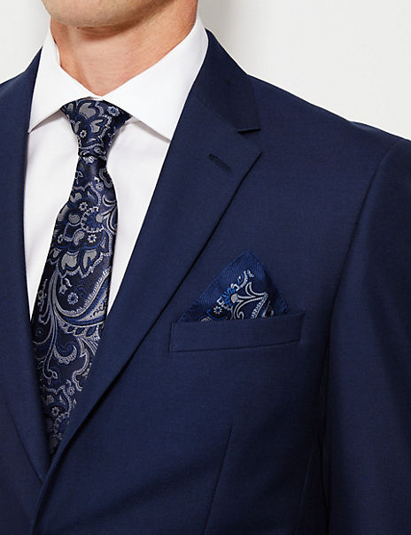 Luxury Silk Paisley Pocket Square