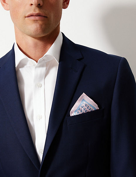 Luxury Silk Flamingo Design Pocket Square