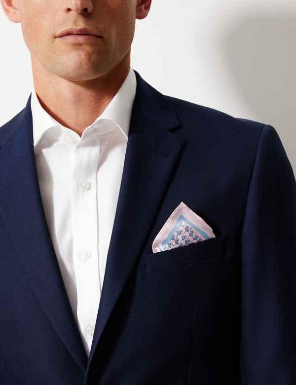 017d8d3fa8ce0 Luxury Silk Flamingo Design Pocket Square