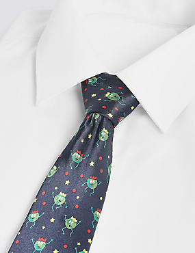 Light Up Sprout Christmas Tie