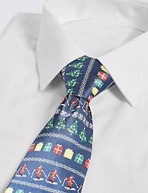 Light Up Santa Christmas Tie