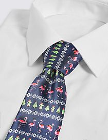 Light Up Flamingo Christmas Tie