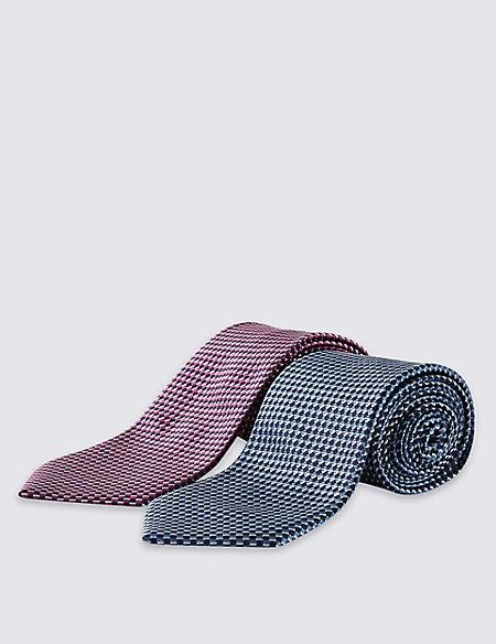 2 Pack Geometric Print Tie