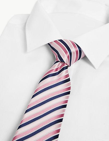 Satin Slim Striped Tie
