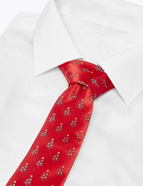 Slim Christmas Tree Tie