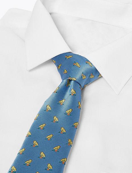 Chick Woven Slim Tie